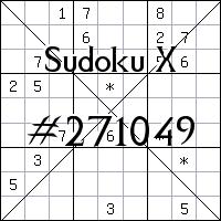 Sudoku X. №271049