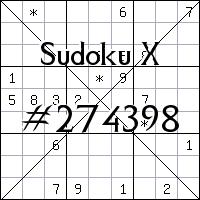 Sudoku X. №274398