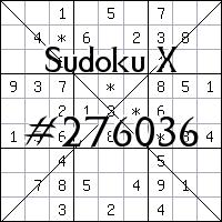 Sudoku X. №276036