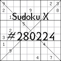 Sudoku X. №280224