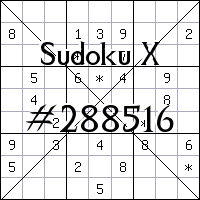 Sudoku X. №288516