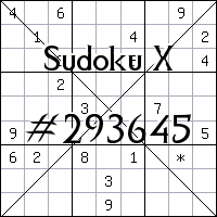 Sudoku X. №293645
