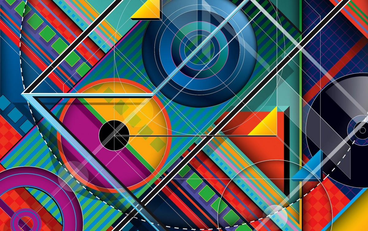 Puzzle Sammeln Puzzle Online - Abstraction with circles