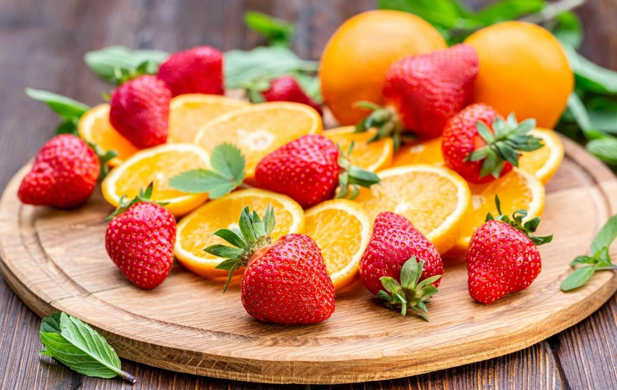 Puzzle Sammeln Puzzle Online - Orange and strawberry