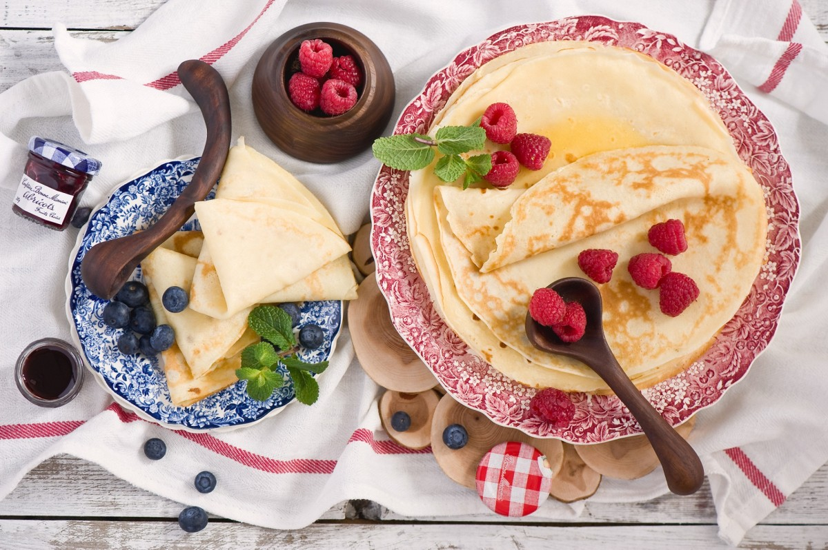 Puzzle Sammeln Puzzle Online - Pancakes and berries