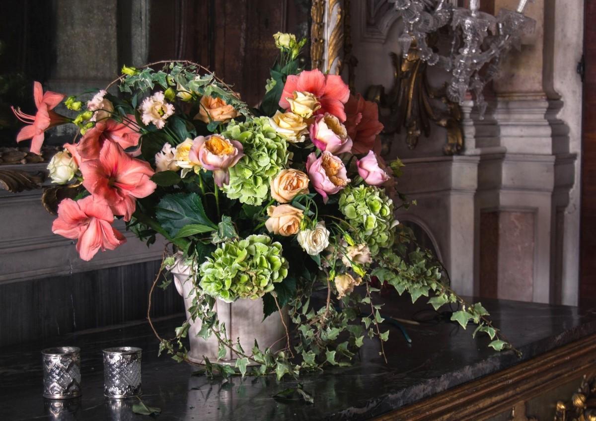 Puzzle Sammeln Puzzle Online - Bouquet in the interior