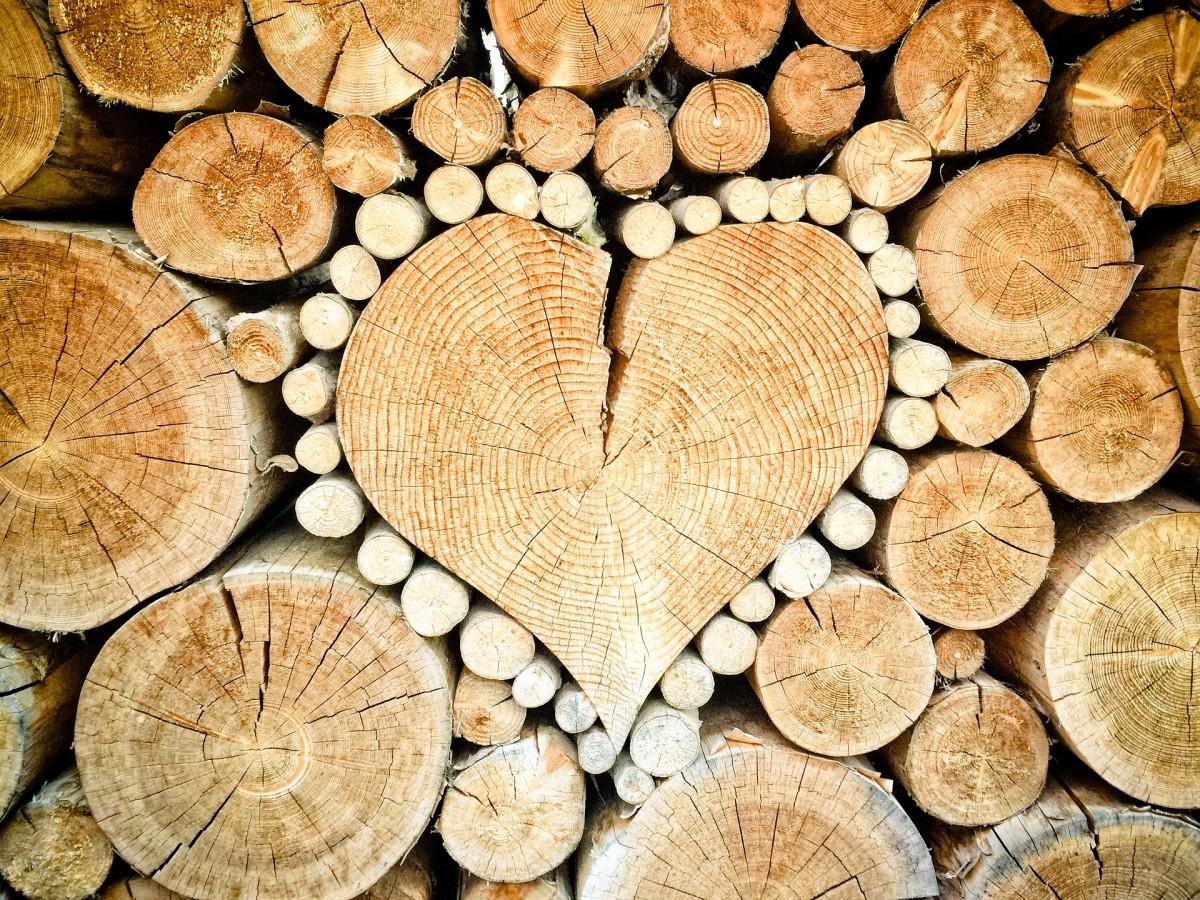 Puzzle Sammeln Puzzle Online - Wooden heart