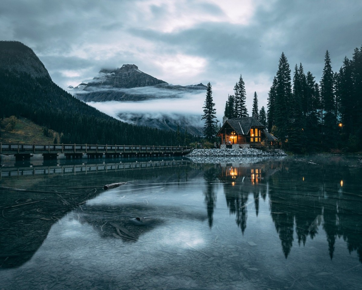 Puzzle Sammeln Puzzle Online - The house and lake