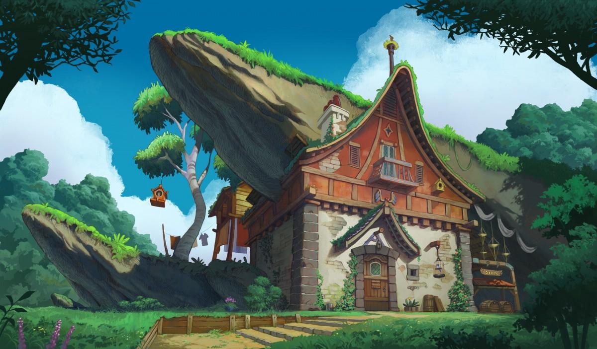Puzzle Sammeln Puzzle Online - House under the rock