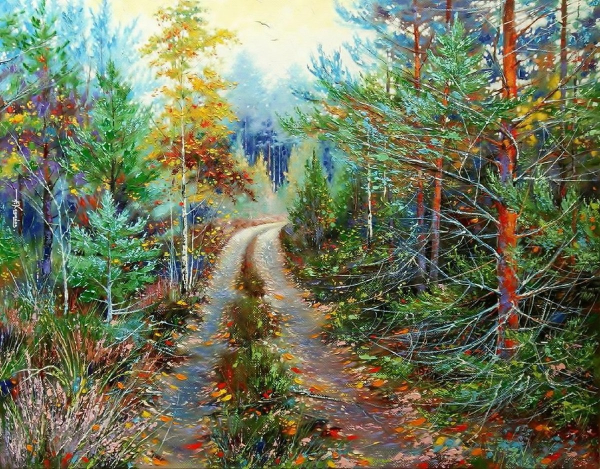 Puzzle Sammeln Puzzle Online - The road in the woods