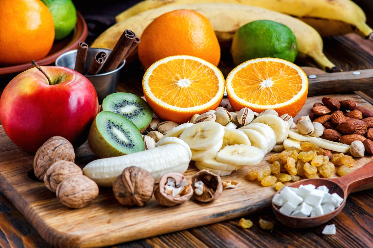 Puzzle Sammeln Puzzle Online - Fruit and nuts