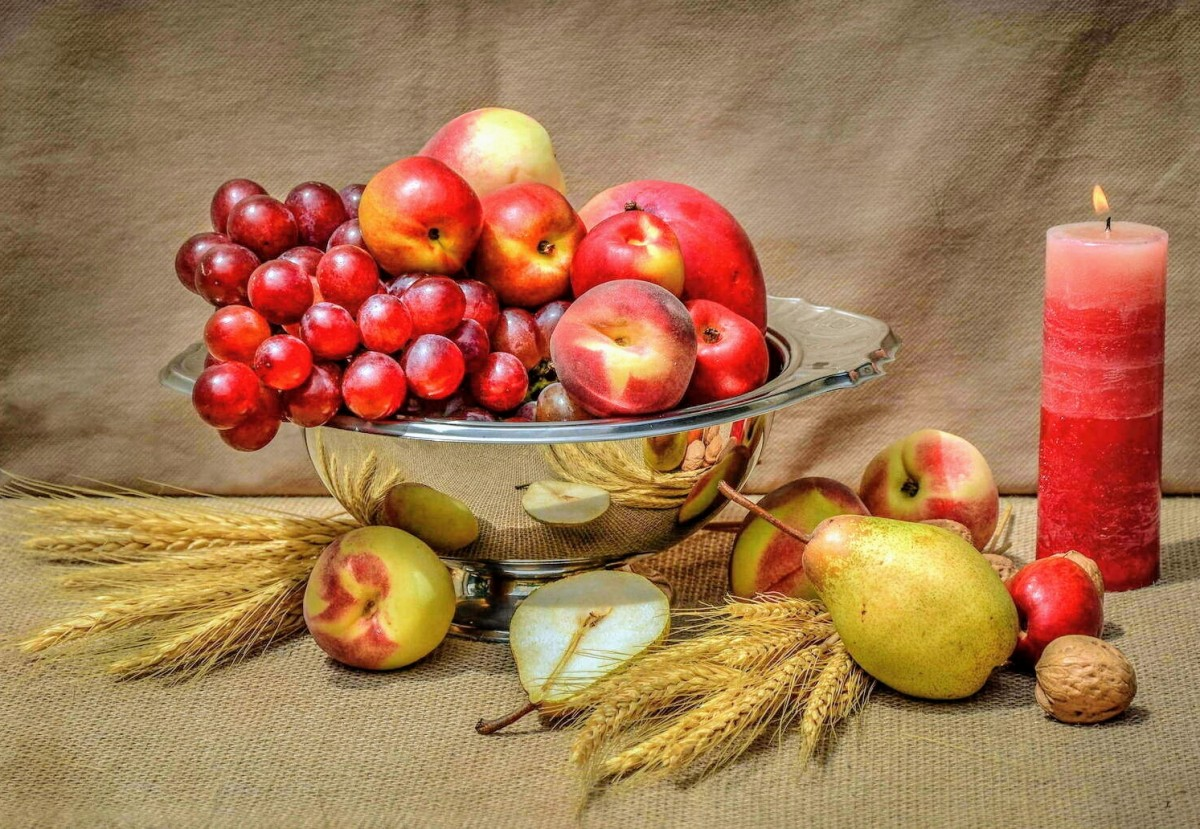 Puzzle Sammeln Puzzle Online - Fruit and candle