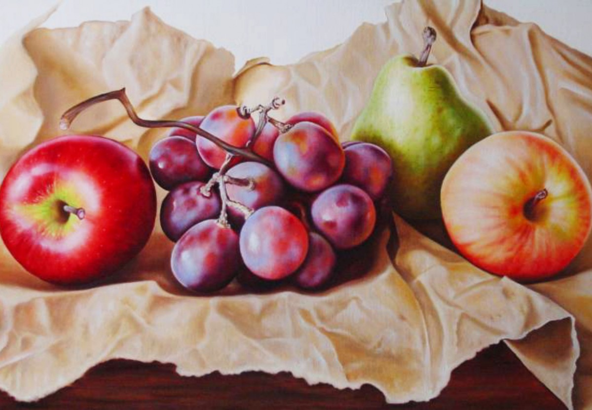 Puzzle Sammeln Puzzle Online - The fruit on the paper