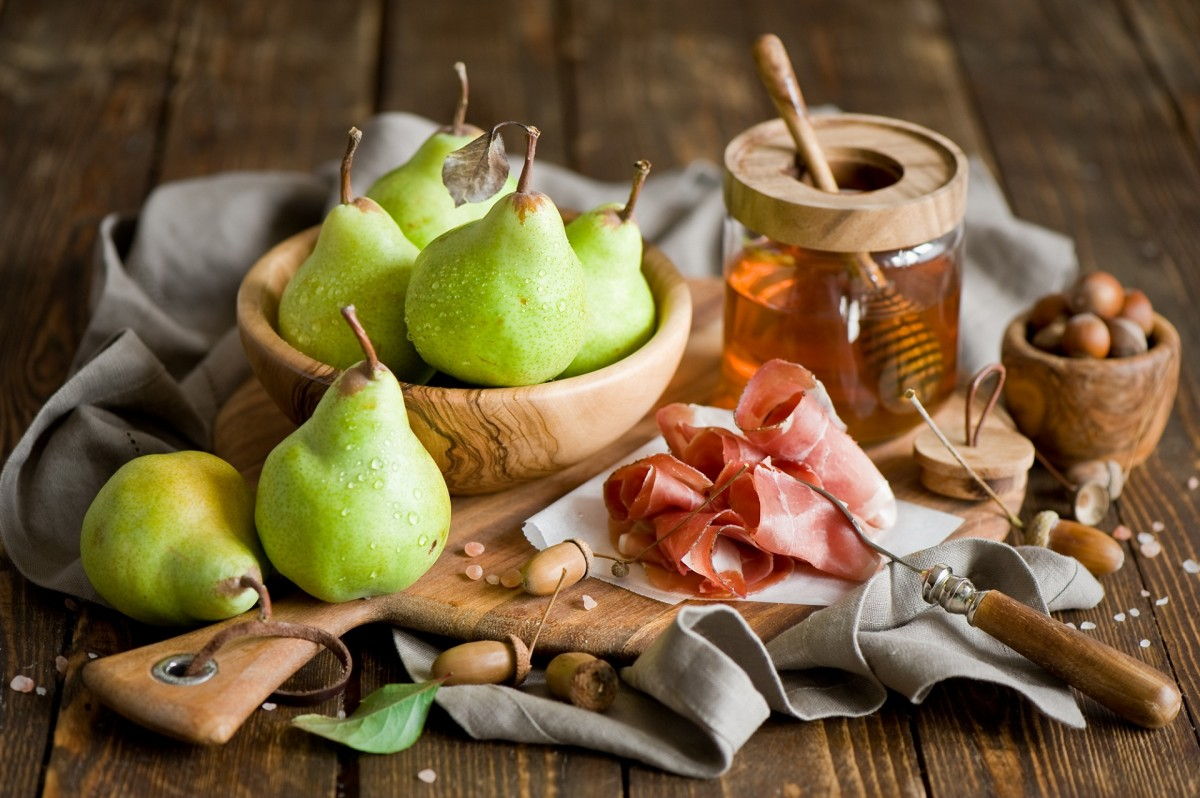 Puzzle Sammeln Puzzle Online - Pear and ham