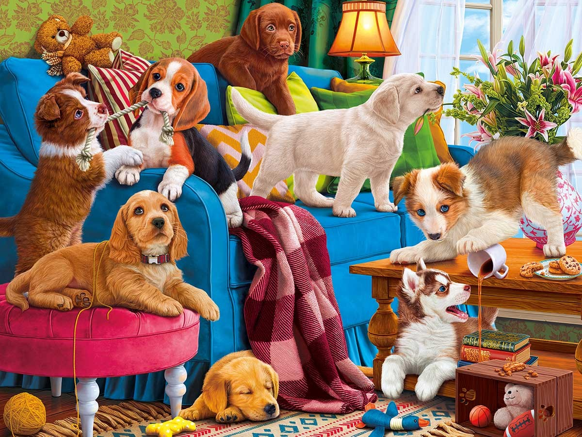 Puzzle Playful puppies