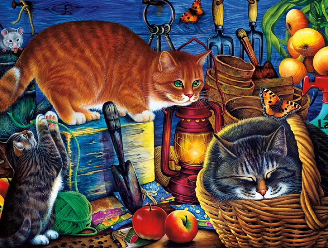 Puzzle Sammeln Puzzle Online - Cats in the pantry