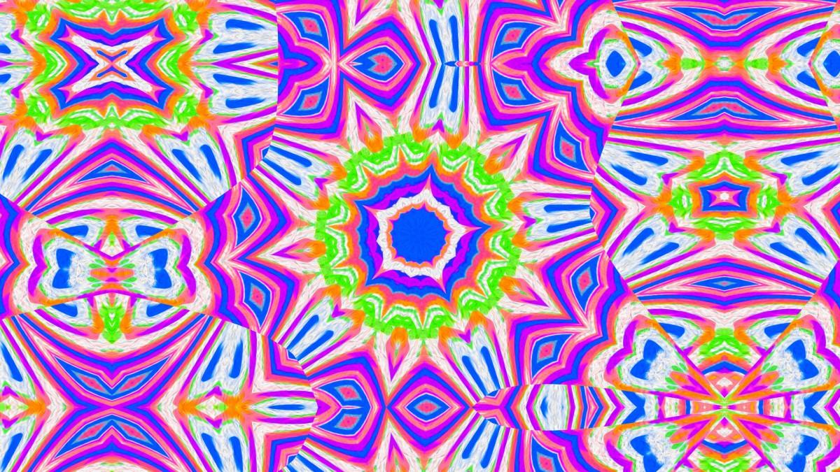 Puzzle Sammeln Puzzle Online - Purple kaleidoscope