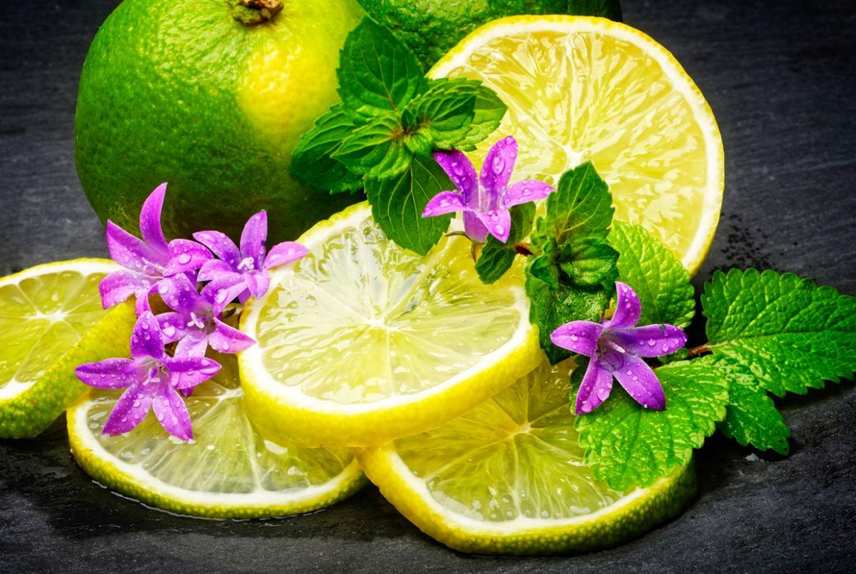 Puzzle Sammeln Puzzle Online - Lemon and mint