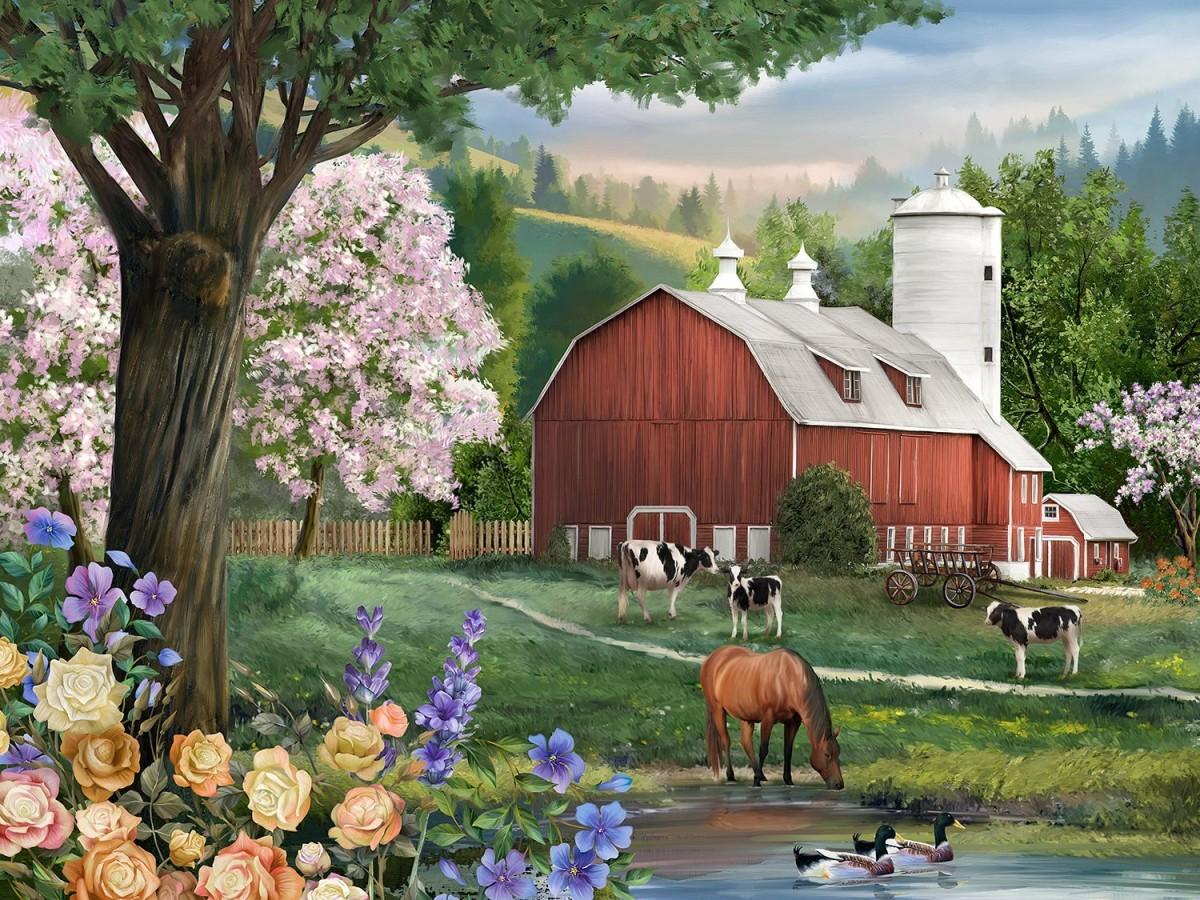 Puzzle Sammeln Puzzle Online - On the farm