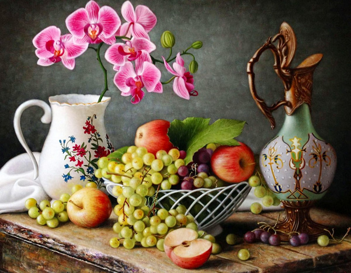 Puzzle Still life with orchids