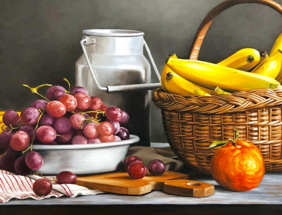 Puzzle Sammeln Puzzle Online - Still life with grapes