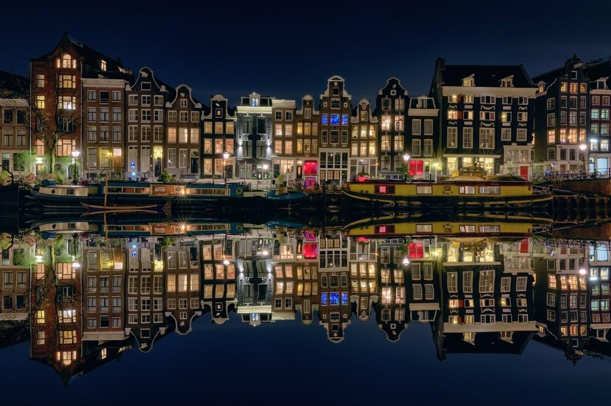 Puzzle Sammeln Puzzle Online - Reflection Of Amsterdam