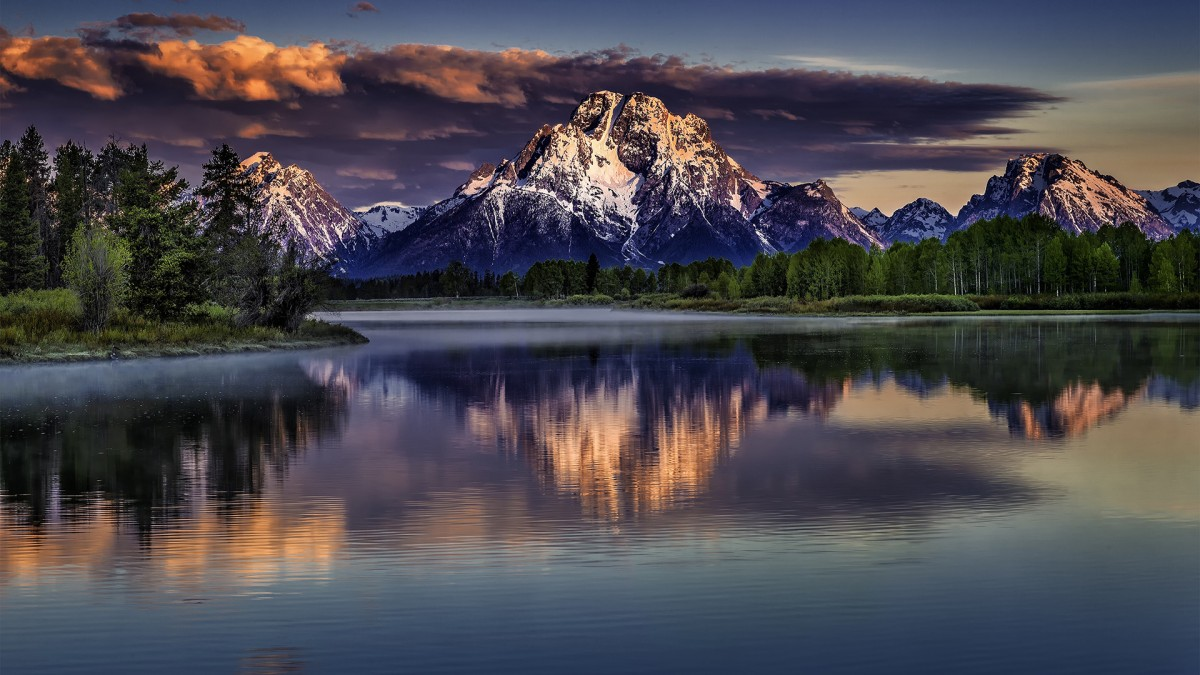 Puzzle Sammeln Puzzle Online - Lake in the mountains