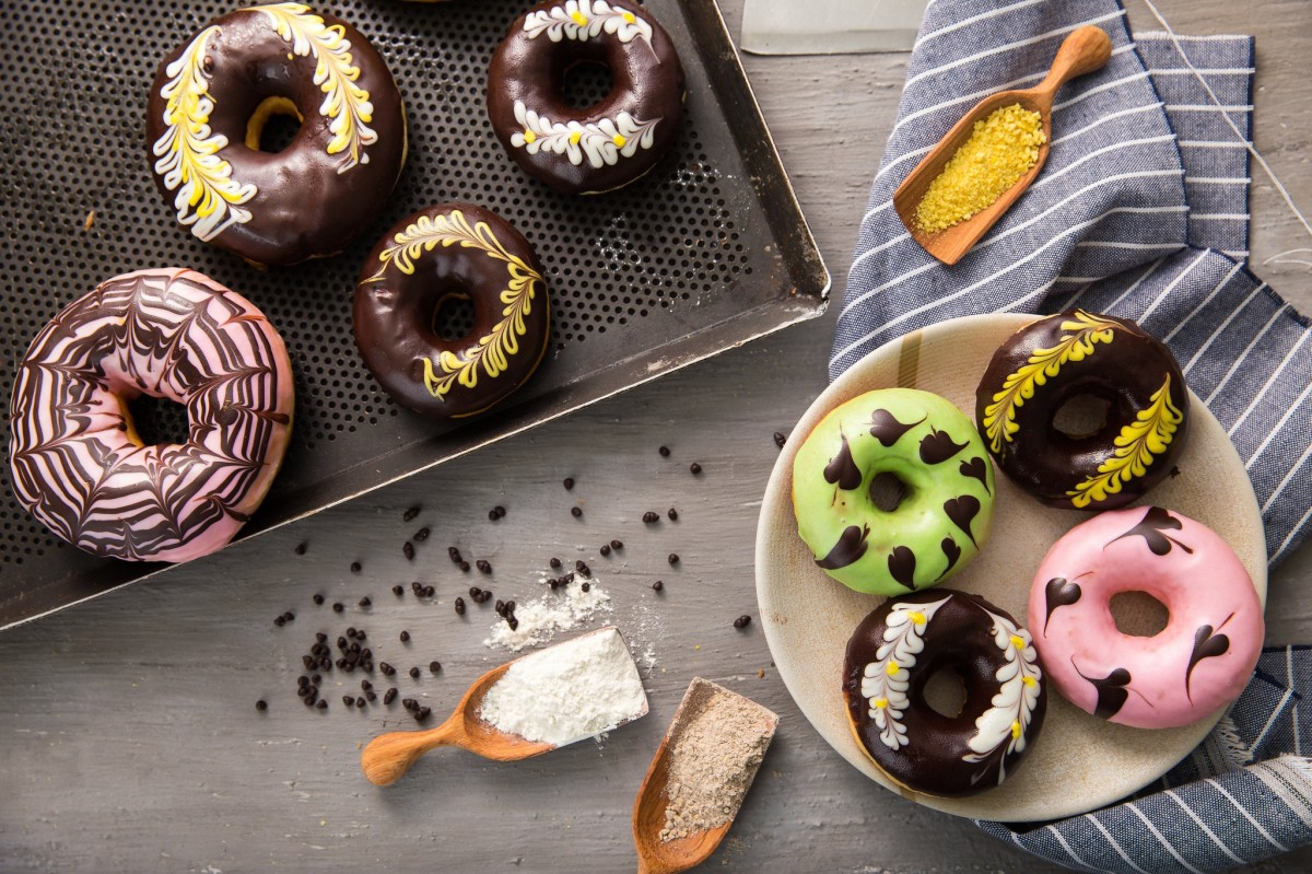 Puzzle Sammeln Puzzle Online - The doughnuts in the glaze