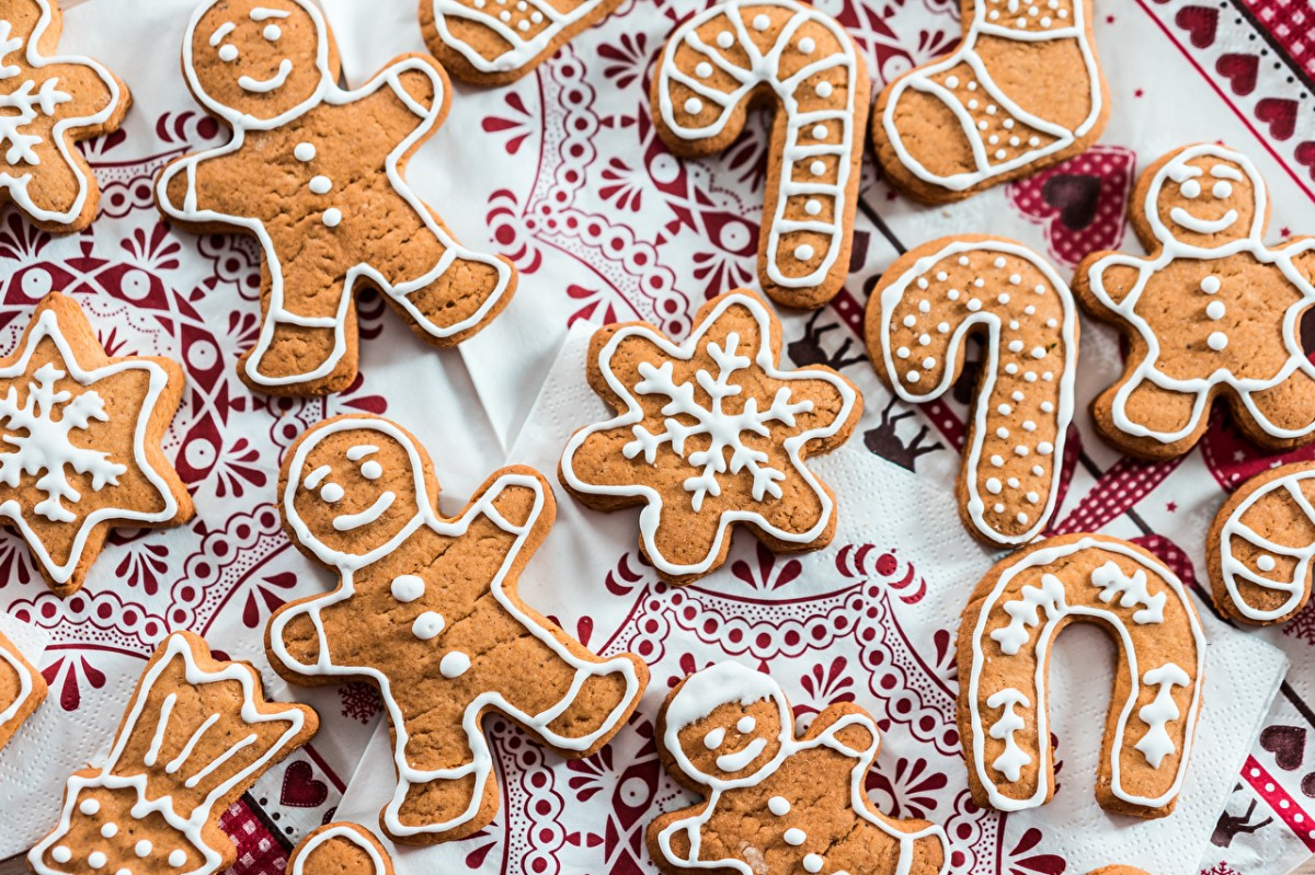Puzzle Sammeln Puzzle Online - Gingerbread on a napkin