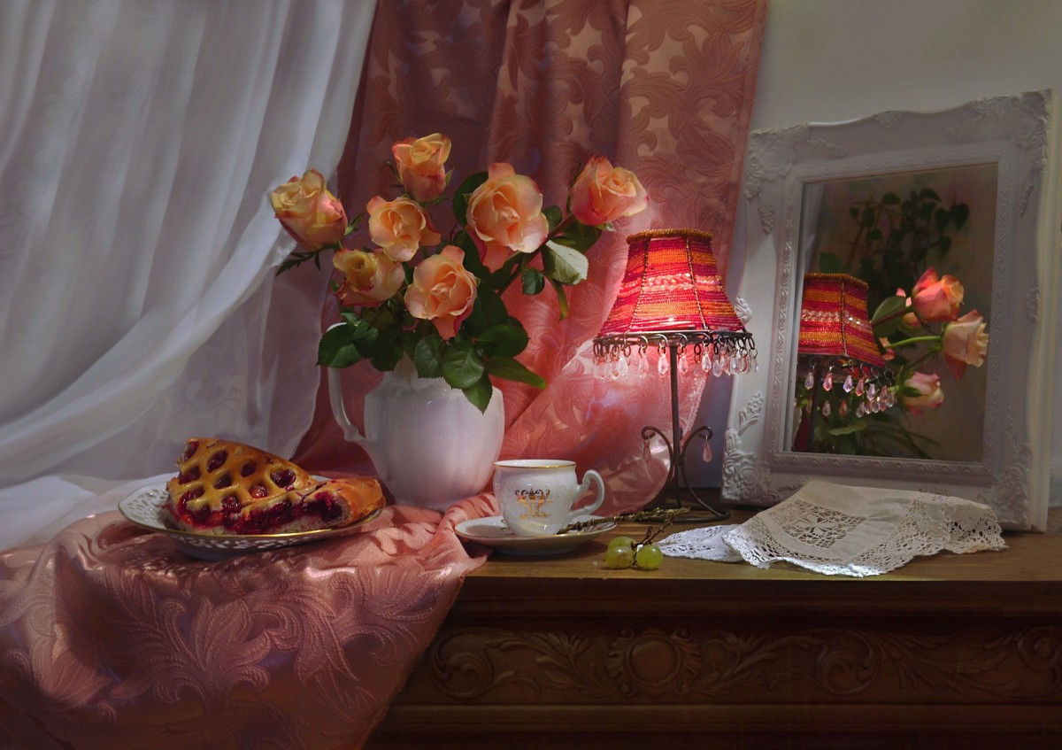 Puzzle Sammeln Puzzle Online - Rose and lamp