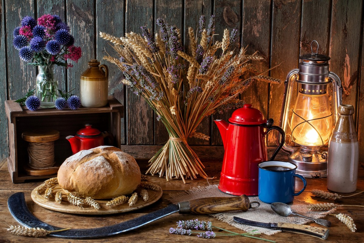 Puzzle Sammeln Puzzle Online - Sheaf and kettle