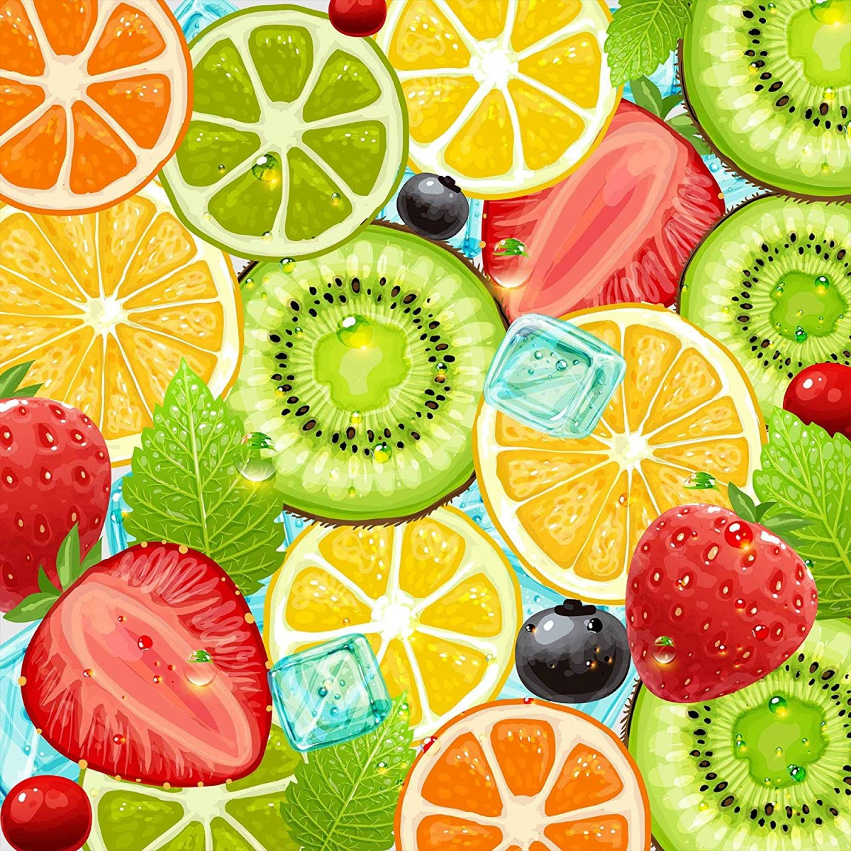 Puzzle Sammeln Puzzle Online - Citrus fruits and strawberries