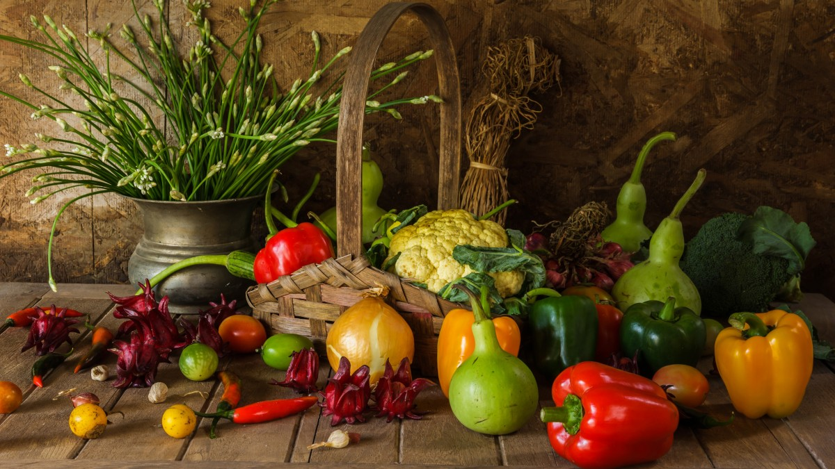 Puzzle Sammeln Puzzle Online - The harvest of vegetables