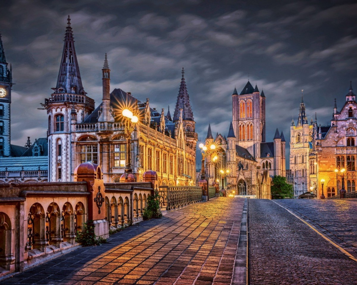 Puzzle Sammeln Puzzle Online - Vecher v Belgii
