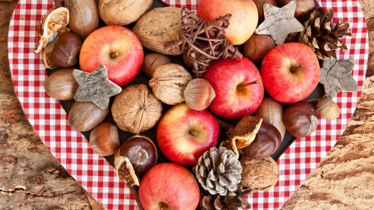 Puzzle Sammeln Puzzle Online - Apples and nuts