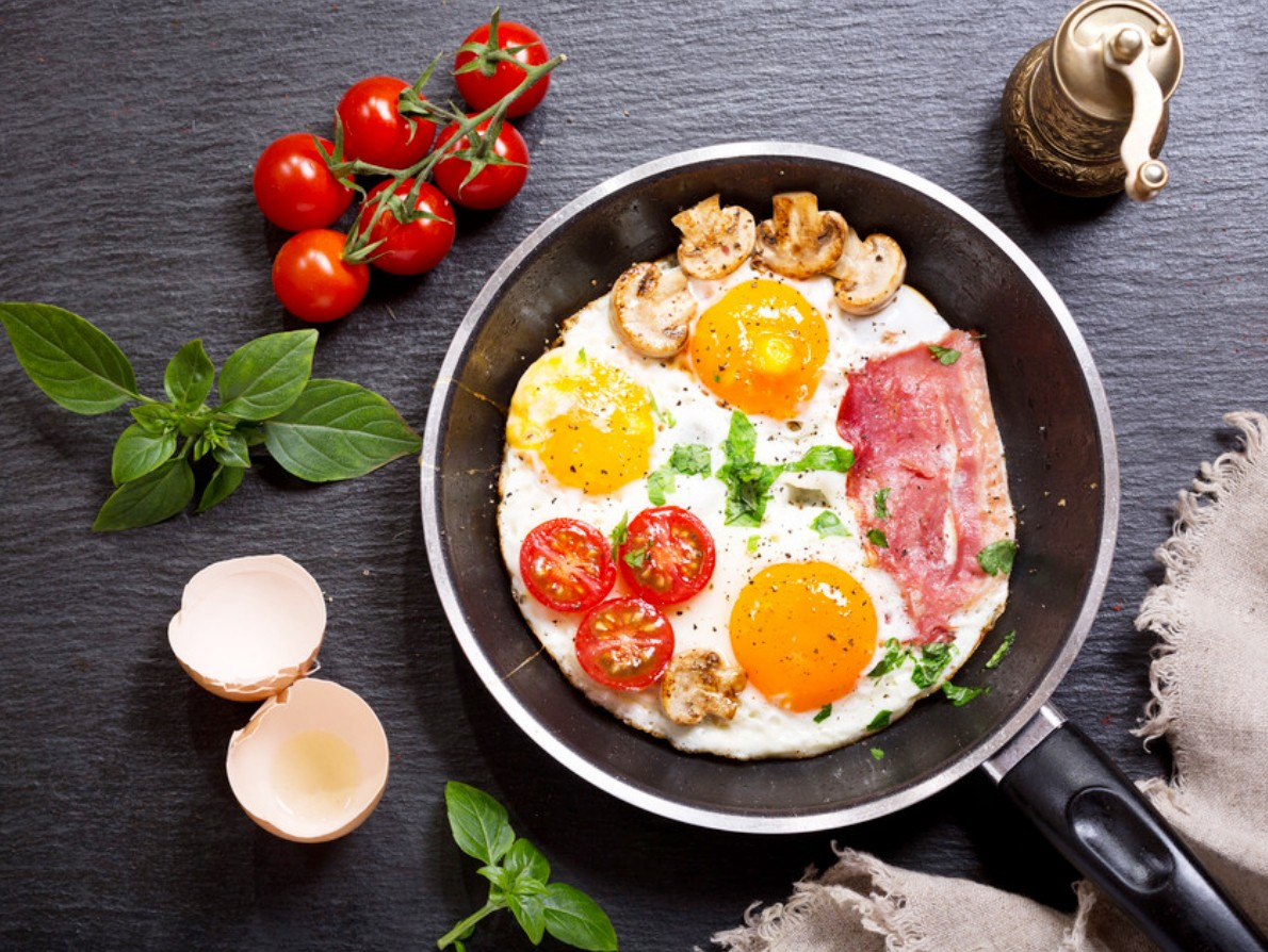 Puzzle Sammeln Puzzle Online - Scrambled eggs with tomatoes