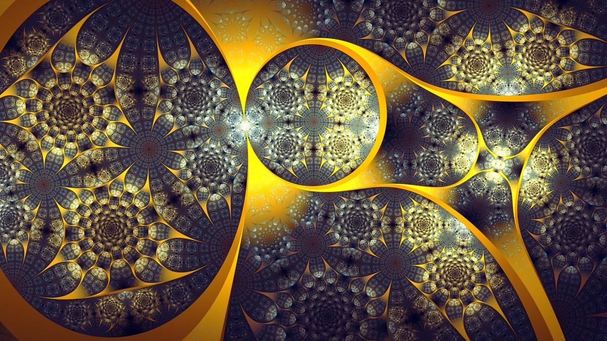 Puzzle Sammeln Puzzle Online - Golden abstraction
