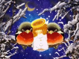 Собирать пазл Angel and birds онлайн