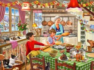 Собирать пазл Grandma's helpers онлайн