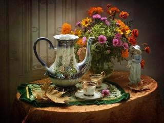 Собирать пазл Tea онлайн