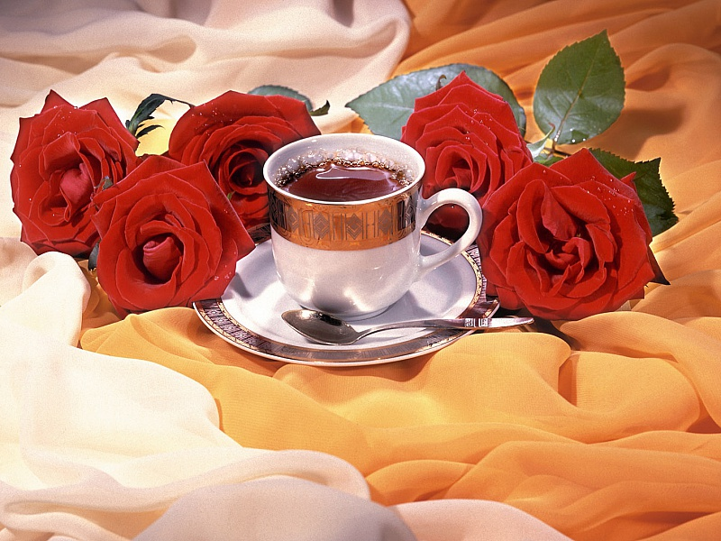 Puzzle Sammeln Puzzle Online - Tea and roses