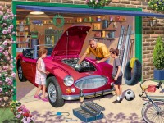 Собирать пазл Grandfather's garage онлайн