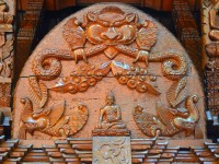 Собирать пазл Wooden pagoda онлайн