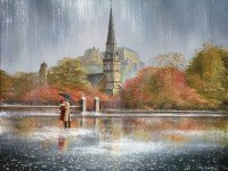Собирать пазл Rain in Edinburgh онлайн