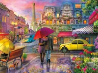 Собирать пазл Rain in Paris онлайн