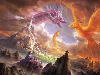 Собирать пазл Drakon i feniks онлайн