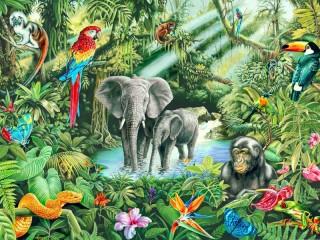 Собирать пазл Jungles онлайн