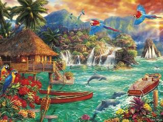 Собирать пазл Ekzoticheskiy ostrov онлайн