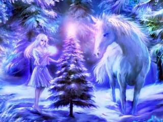 Собирать пазл Elf and unicorn онлайн