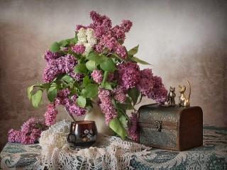 Собирать пазл Etude lilac онлайн